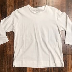 Scrubs brand Medium white 3/4 sleeve shirt